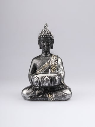 Buddha Tealight Holder silver