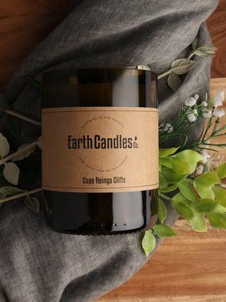 Cape Reinga Cliffs - Wine Bottle Candle