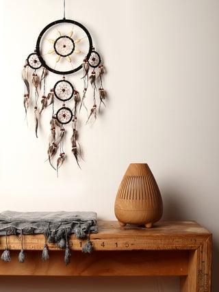 Dreamcatcher 16cm Black Wood