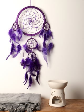 Dreamcatcher 16cm Purple Bead
