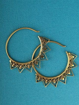 Eclipsi Brass Earrings- PAIR