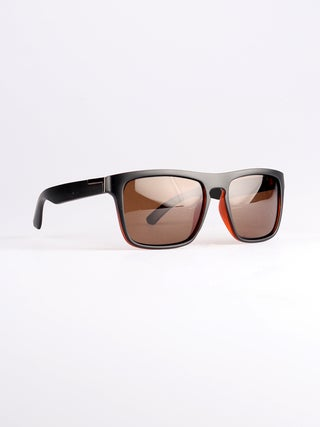 Flat Top Notched Square Polarised Sunglasses