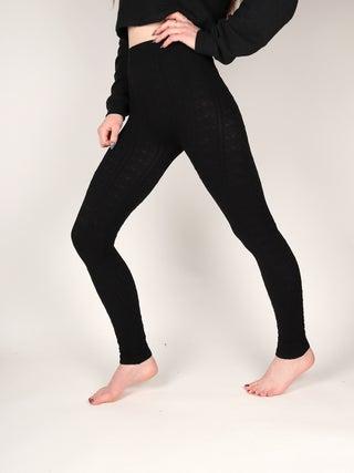 Footless Jacquard Leggings