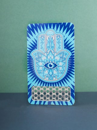 Grinder Card:Hamsa - Blue