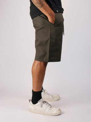 Hemp-Cotton Drawstring Shorts