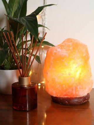 Himalayan Salt Lamp  w-Brown Base