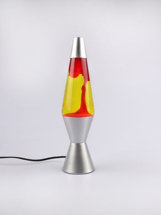 Lava Lamp Silver / Yellow / Red