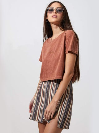 Mimi Stripe - A Line Mini Skirt