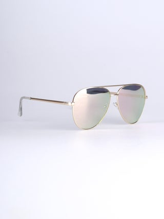 Mirrored Aviator Sunglasses