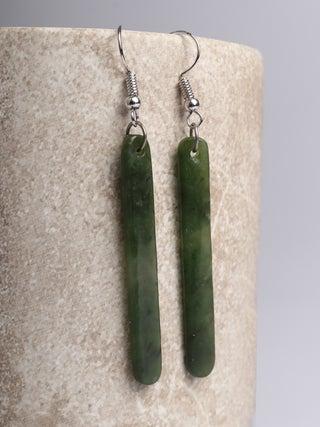 NZ MADE - Greenstone Drop Earrings