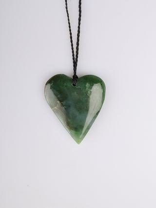 NZ MADE - Greenstone Heart Pendant