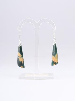NZ Made, NZ Stone Hook Earrings - 2