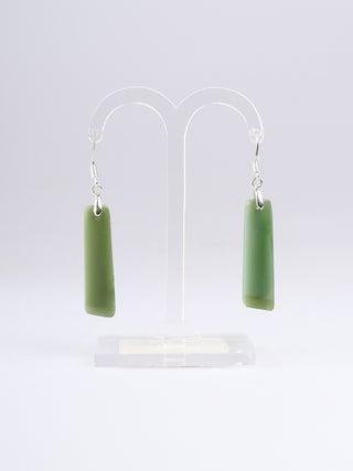NZ Made, NZ Stone Hook Long Earrings - 3
