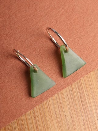 NZ Made, NZ Stone Sleeper Earrings - 2