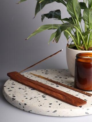 Plain Wood Incense Boat