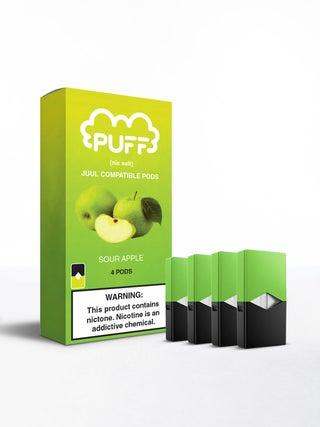 Puff Pods Sour Apple 4pc