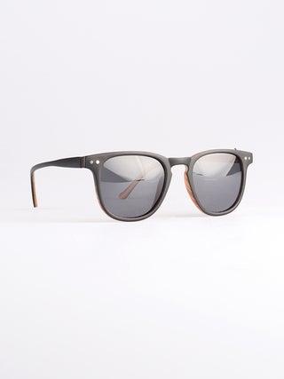 Retro Thin Frame Square Polarised Sunglasses