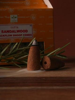 Satya Sandalwood Backflow Cones 24pcs