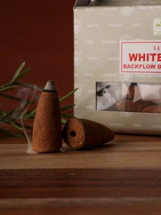 Satya White Sage Backflow Cones 24pcs