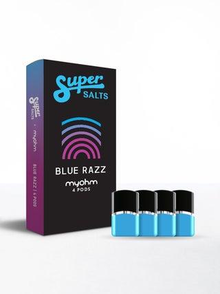 Super Salts x myohm air Blue Razz 4pc