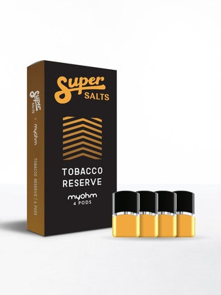 Super Salts x myohm air Tobacco Reserve 4pc