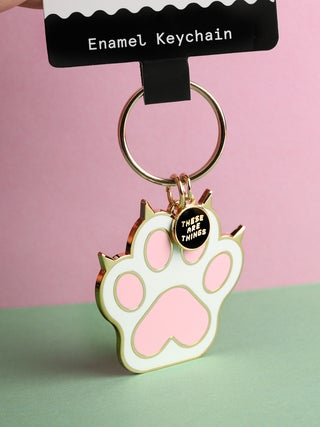 These Are Things Enamel Keychain- Cat Paw