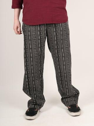 Unisex Drawstring Aztec Pants